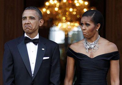 Image result for obama michelle sneering