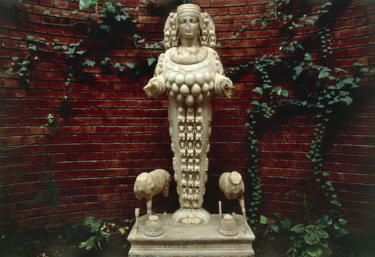 Marble statue of Artemis, from Ephesus, Turkey