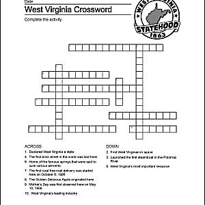 West Virginia crossword.