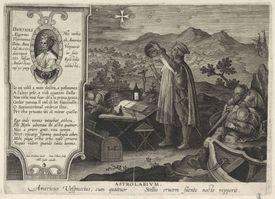 Amerigo Vespucci finding the Southern Cross constellation