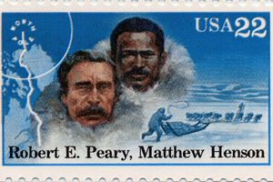 Stamp of Matthew Henson and Robert E. Peary