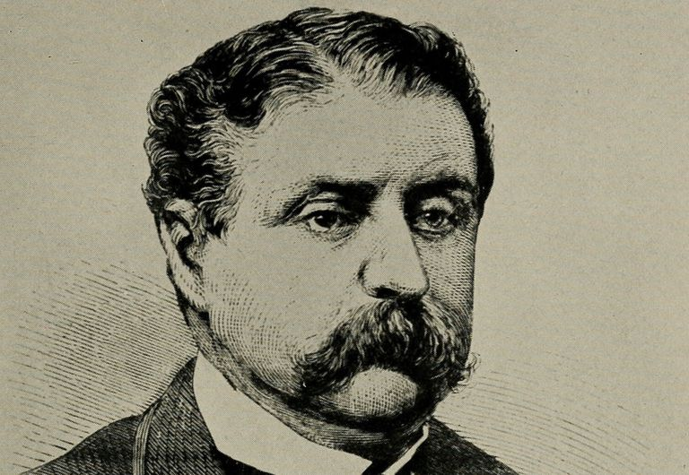 Engraved portrait of Wall Street schemer Jim Fisk