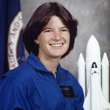 A photograph of astronaut Sally Ride as a candidate for the astronaut program, 1979.
