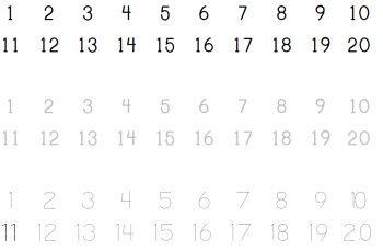 Printable Number Strips
