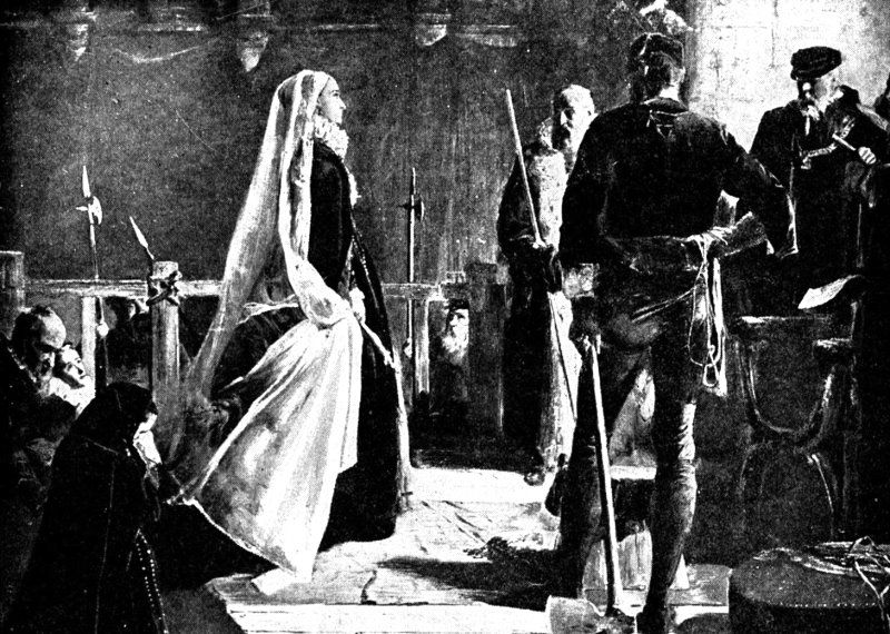 Mary, Queen of Scots, beheaded at Fotheringay Castle