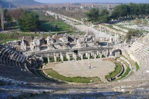 The Roman theatre in Ephesus