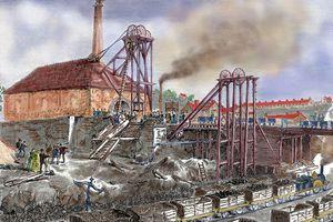 Mining, Industrial Revolution, engraving, 19th century, United Kingdom