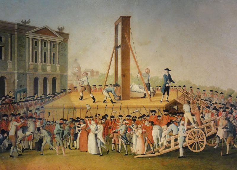 Marie Antoinettes Hinrichtung am 16. Oktober 1793