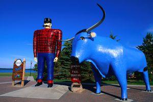 Paul Bunyan and his faithful blue ox, Babe
