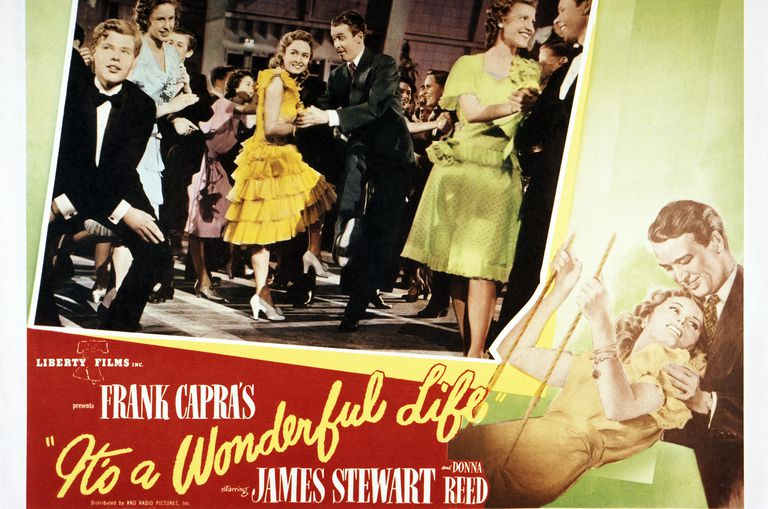 """A poster for Frank Capra's 1946 comedy-drama """"It's A Wonderful Life"""""""