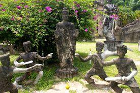 Statues of Buddhist warrior monks