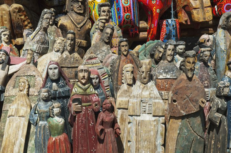 Wooden statuettes
