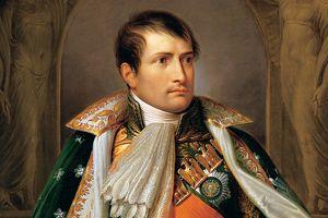 Portrait of Emperor Napoleon Bonaparte of France.