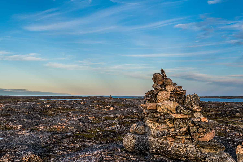 Balanced rocks on the shore near Iqaluit