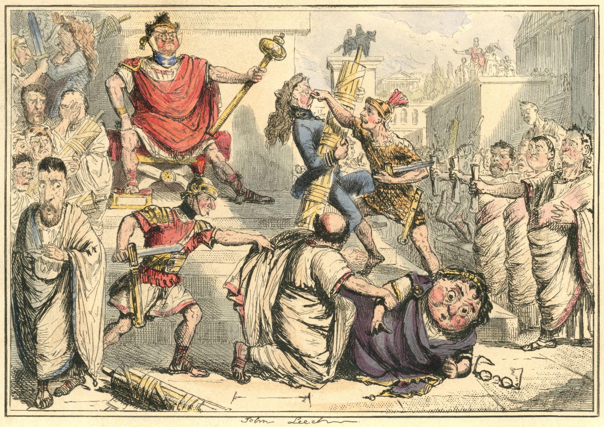 Tarquinius Superbus making himself King