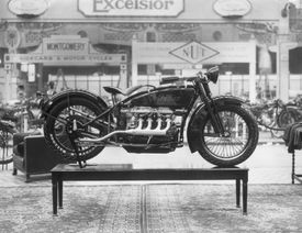 The first Indian four-cylinder engine motorbike