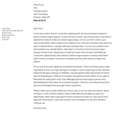 how to write and format an mba essay business letter format