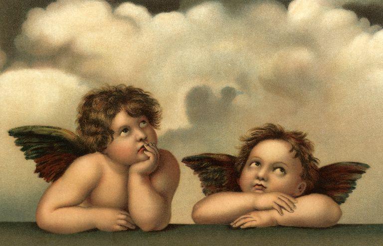 Cherubs painting, circa 1510s
