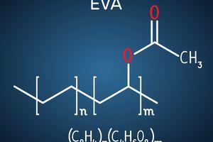 Ethylene-vinyl acetate (EVA). It is is the copolymer of ethylene and vinyl acetate