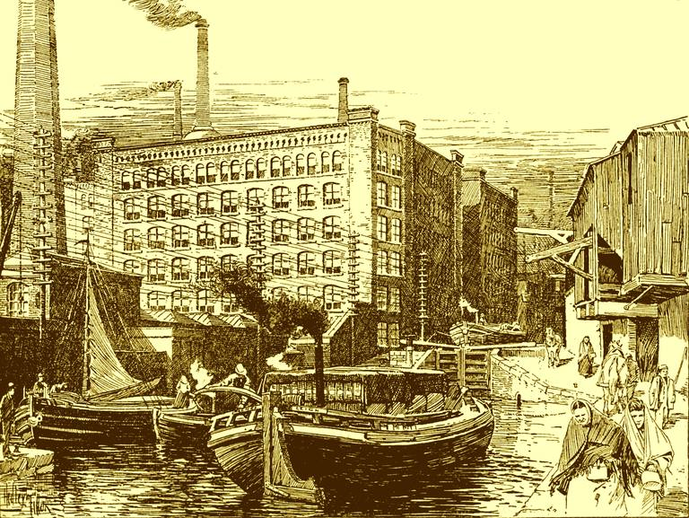 Cotton mills late 19th century