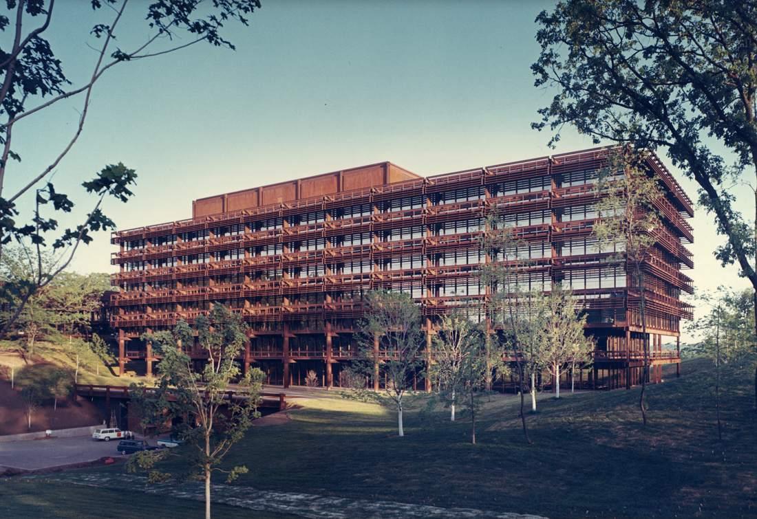 Deere and Company Administrative Center by Eero Saarinen
