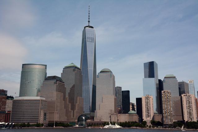 New York horizon, One World Trade Center de la rivière Hudson en 2014