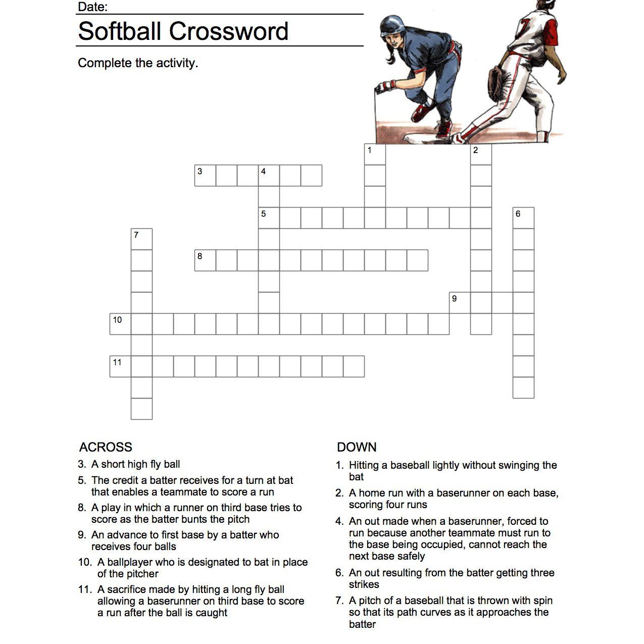 Σταυρόλεξο Softball