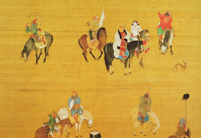 Kublai Khan hunting in China