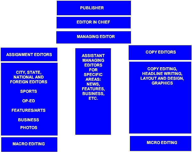 Newsroom hierarchy graph.