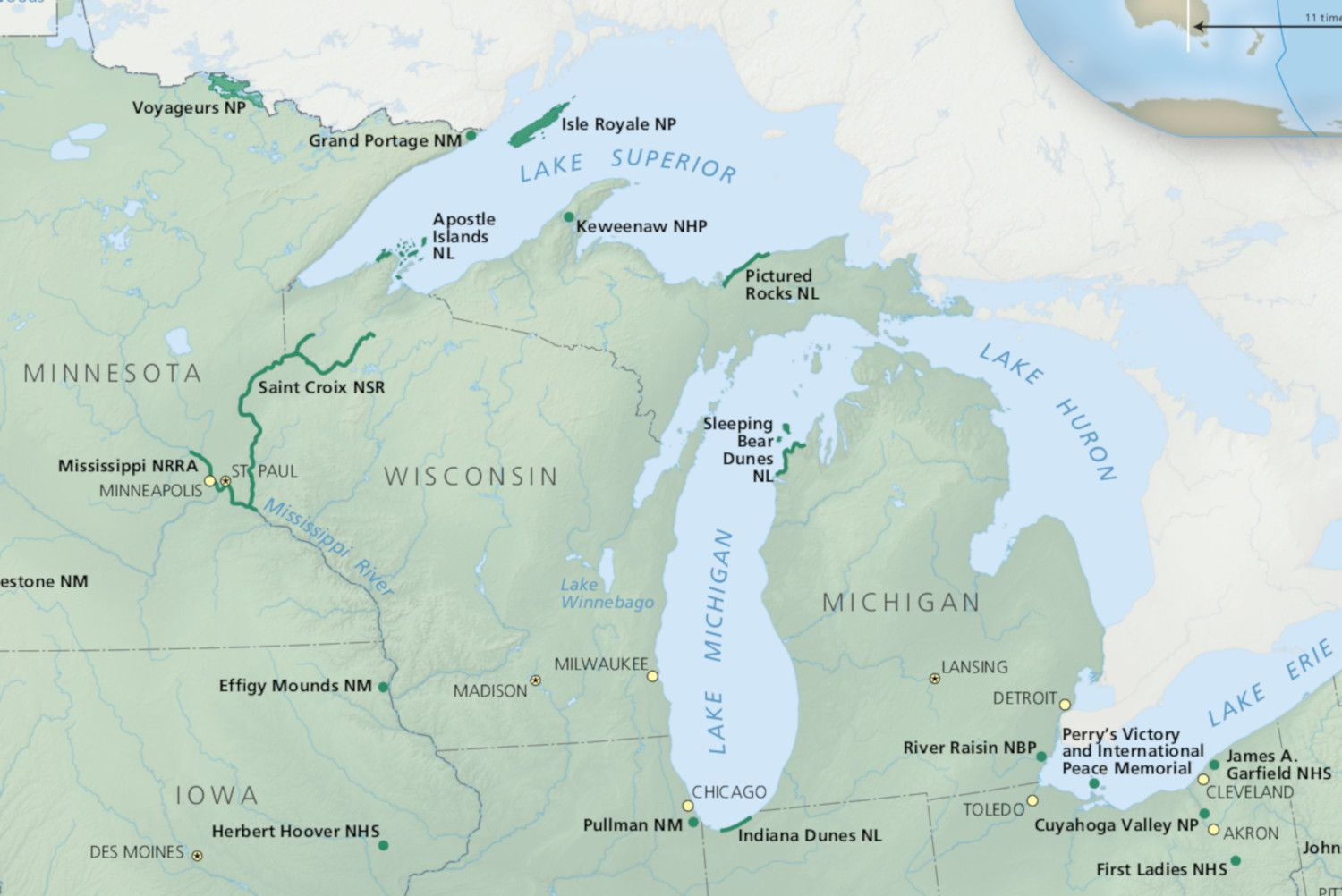 National Parks in Michigan