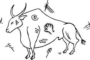 Prehistoric Cave Painting Auroch Bull