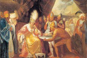 Scythian emissaries meeting with Darius.