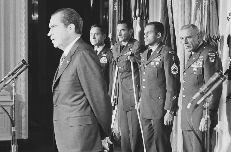 President Nixon Speaking at Awards Ceremony