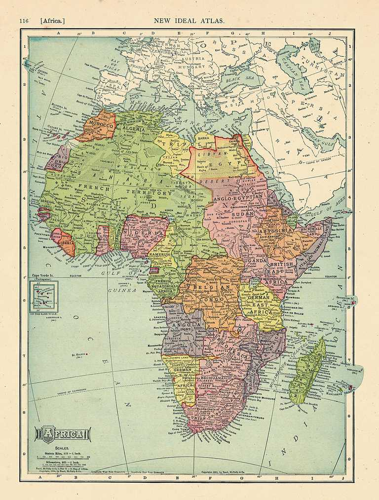 Native American Map Before Colonization.The Colonial Names Of African States