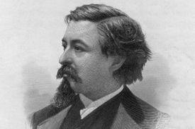 Engraved portrait of cartoonist Thomas Nast