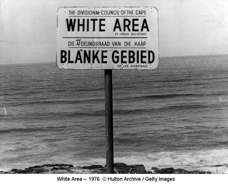 White Area sign on beach-- 1976