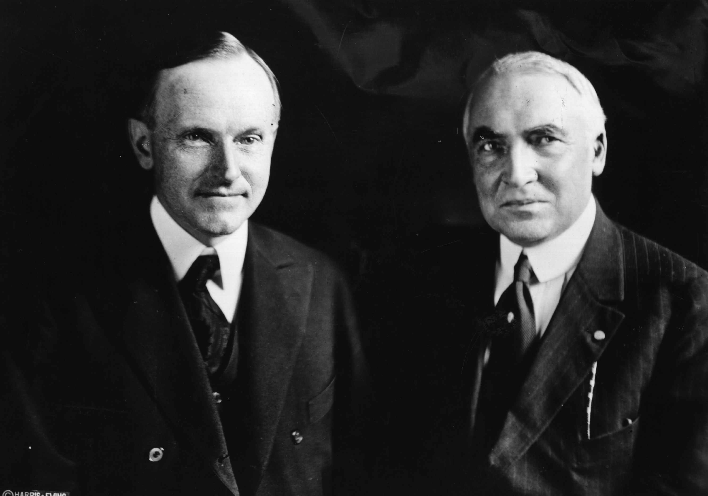 Portrait of Harding And Coolidge