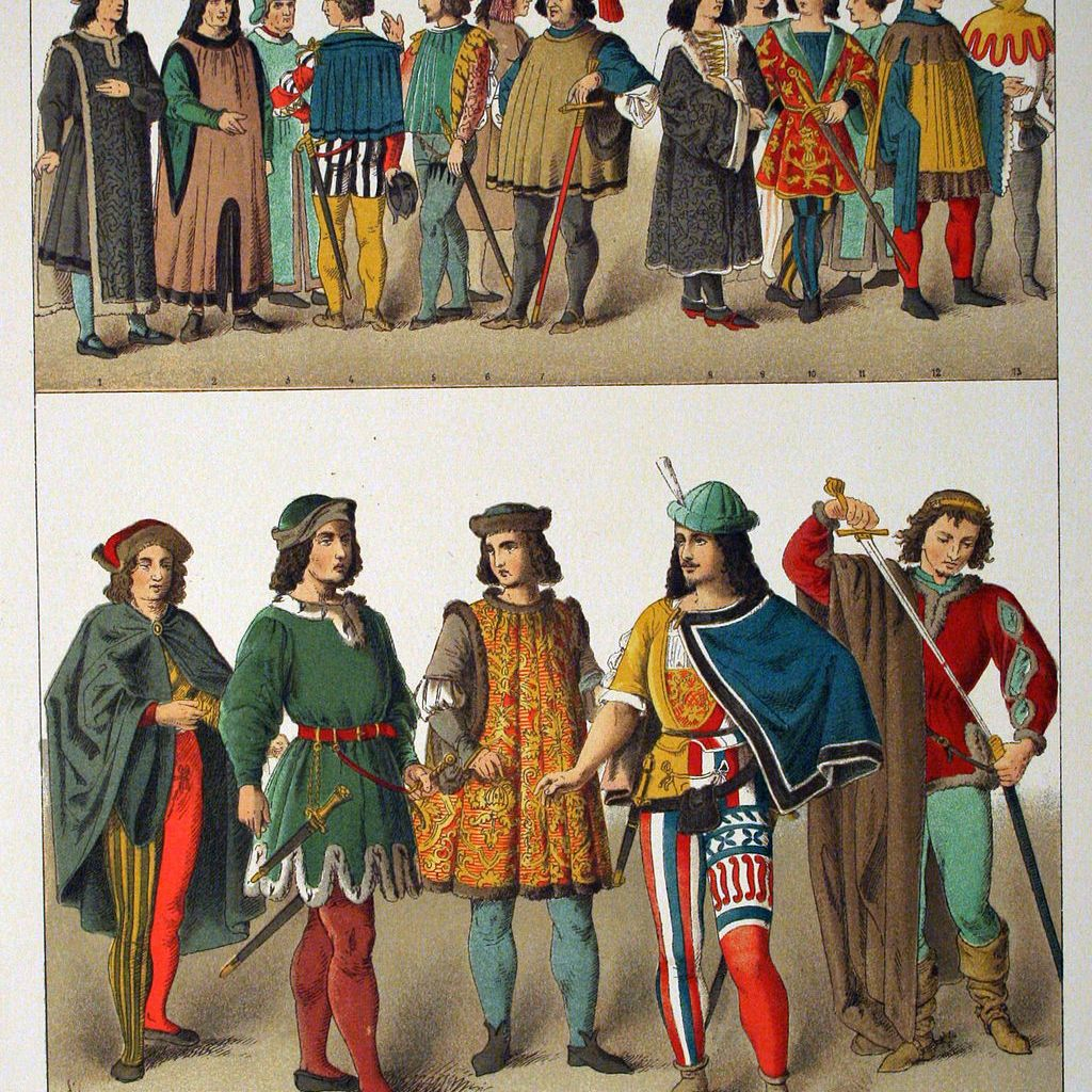 8e85fc54fbc62 Medieval Clothing Styles by Region and Period