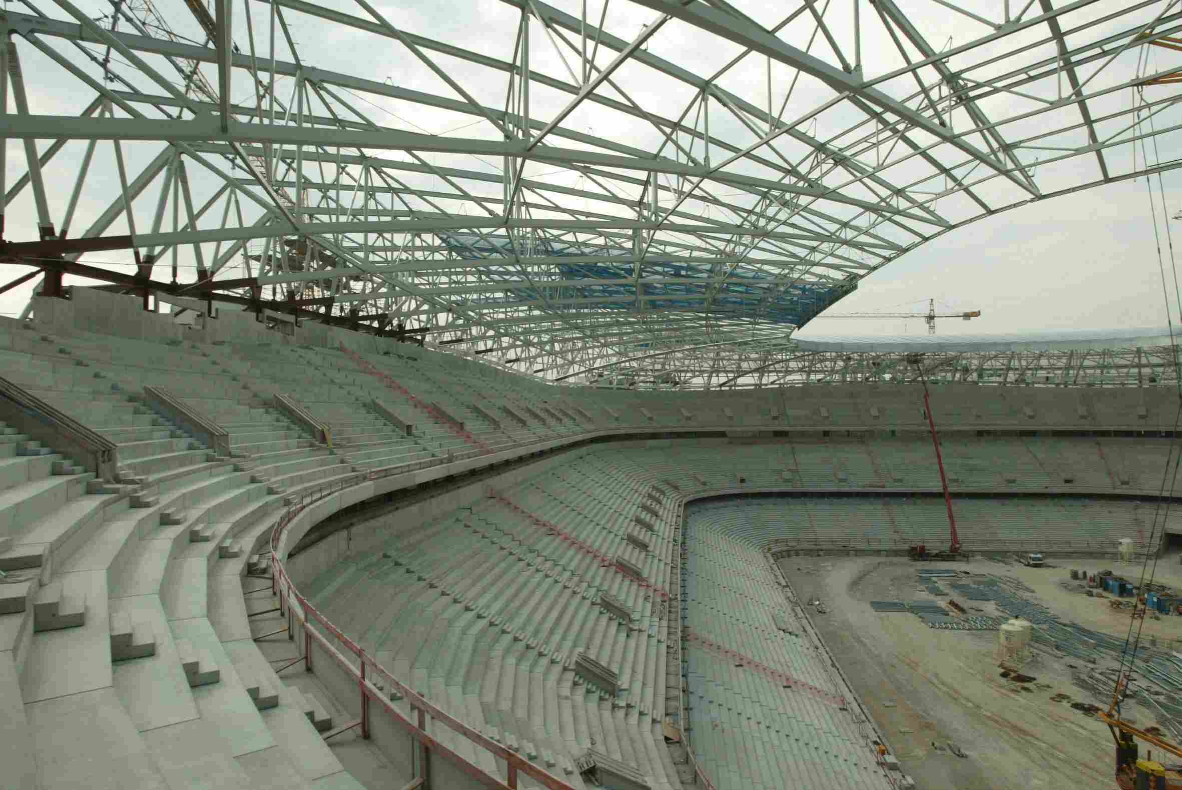 Inside Allianz Arena Under the Roof of ETFE
