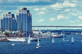 Halifax waterfront during the Tall Ships Festival.