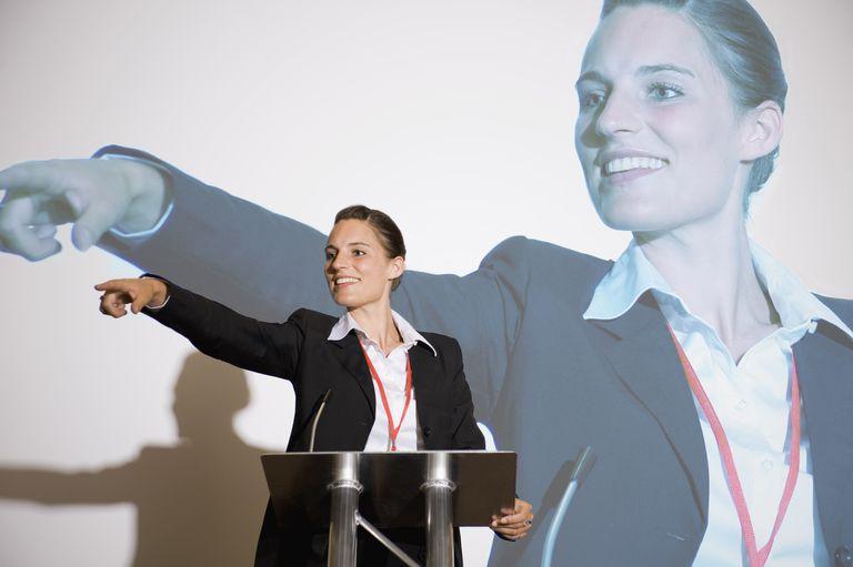 speaker pointing