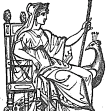 Juno: Göttinnen aus Thomas Keightleys 1852 Die Mythologie des antiken Griechenlands und Italiens.