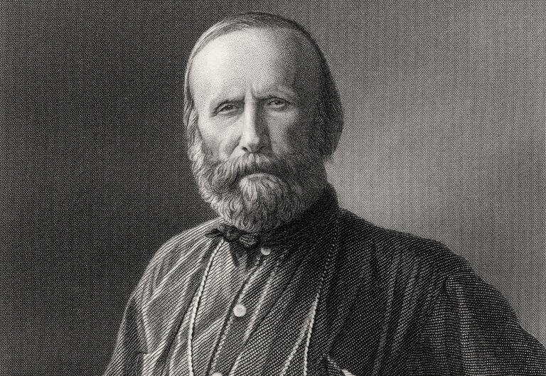 Engraved portrait of Giuseppe Garibaldi