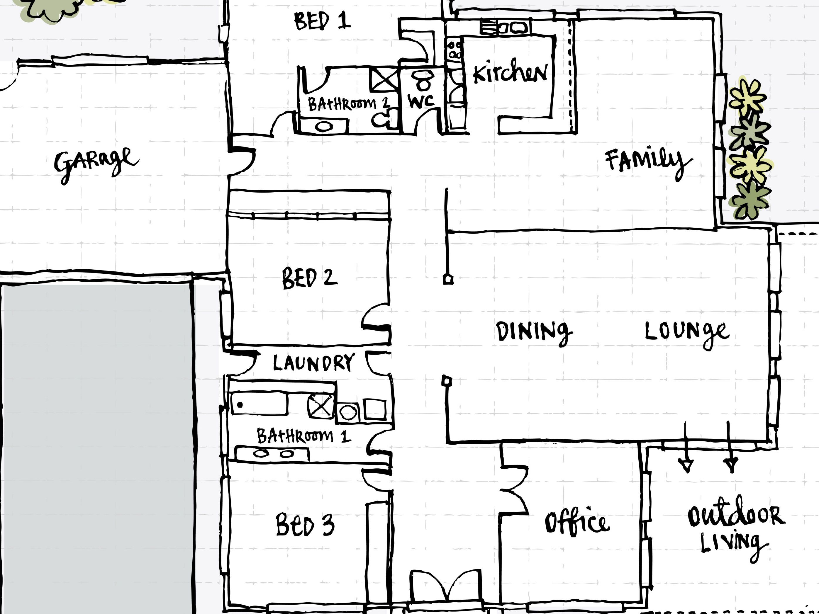 What Is a Floor Plan and Can You Build a House With It? Draft Plan Storey House With Roof Deck on