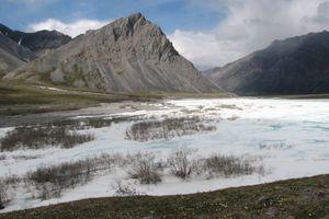 Frozen Spring in Tundra, Arctic National Wildlife Refuge