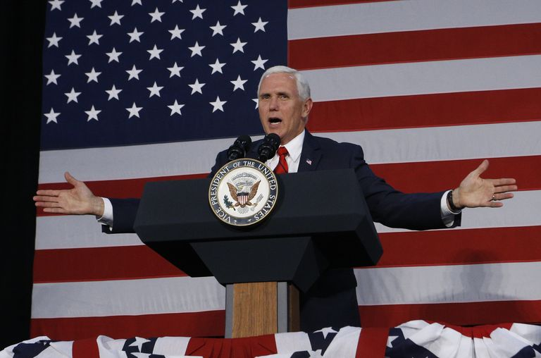 Vice President Mike Pence during a campaign rally