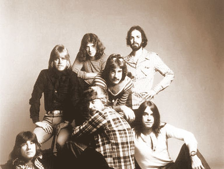 The band Chicago in 1975
