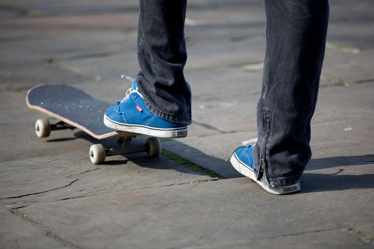 skateboard and feet