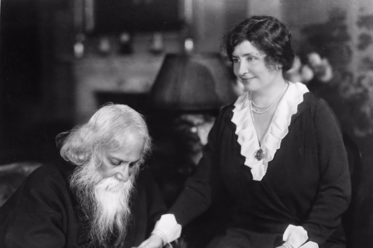 Helen Keller With Indian Poet Tagore
