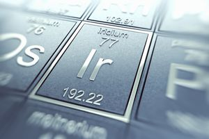 Iridium on a periodic table